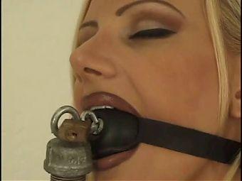 more bondage dildo sucking