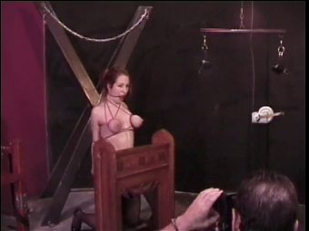 Busty chick gets no love from her sadist!