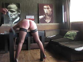 Step-daddy spanks my ass